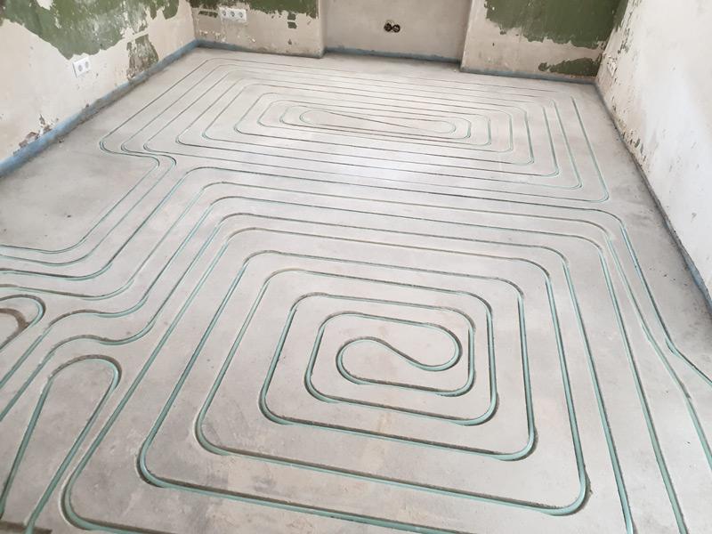 Fußbodenheizung vom Prodi