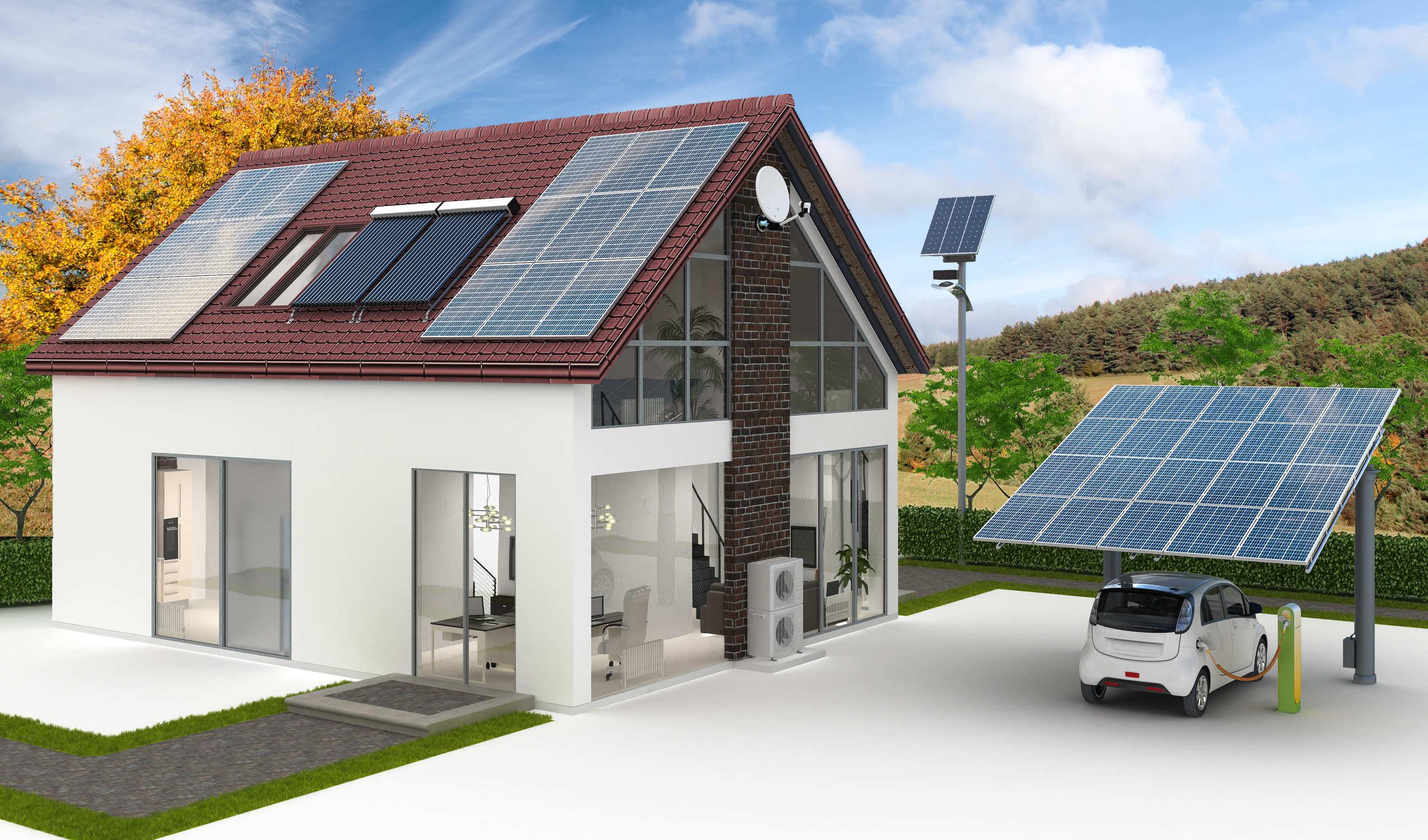 Sonnenenergie in Wärme umwandeln